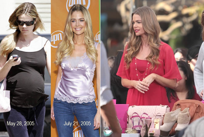 Denise Richards pregnant: before and after