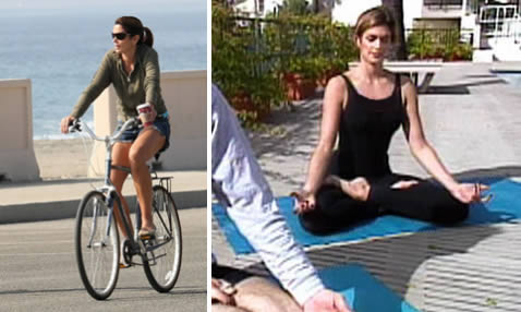 Celebrity T Cindy Crawford Exercises