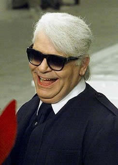 karl lagerfeld before losing weight